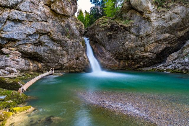 Die Buchenegger Wasserfälle in Bayern im Allgäu