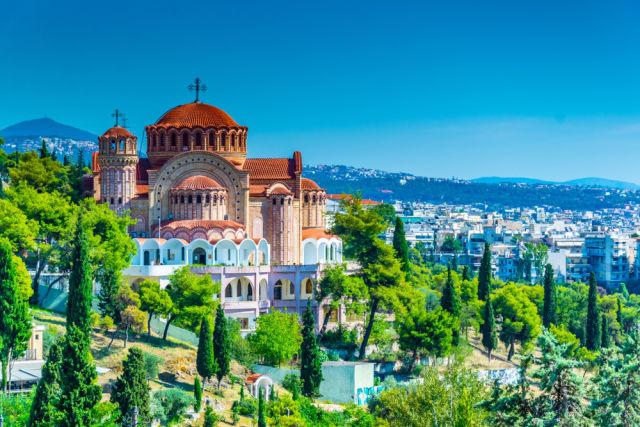 Schöne Aussicht über Thessaloniki in Griechenland