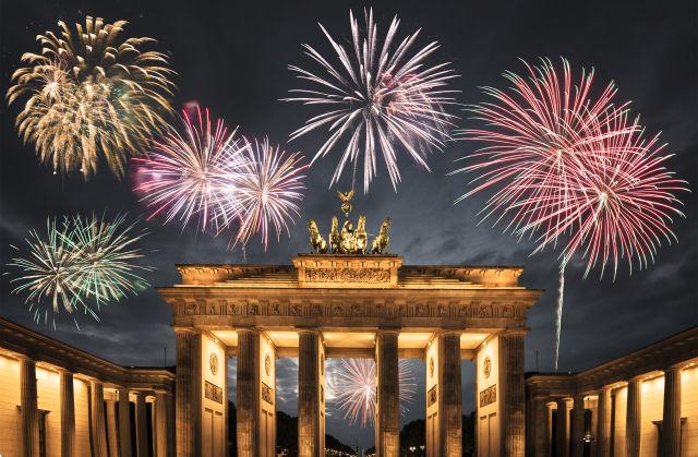 berlin, celebration, fireworks