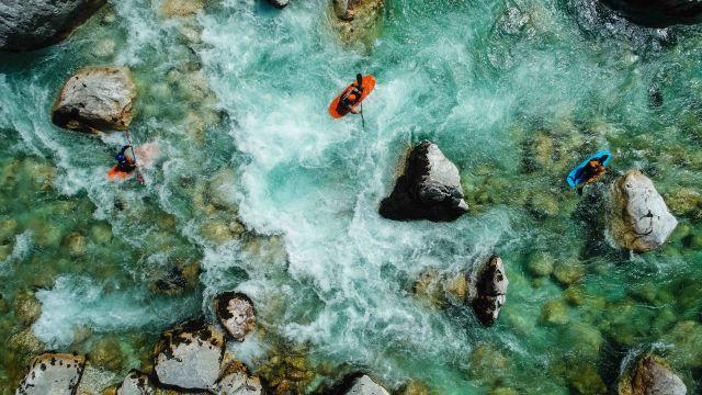 Rafting, Slovenia, Slowenien