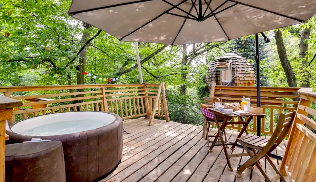 cabane plume france, airbnb