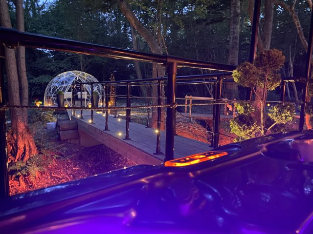 airbnb, The Copper Cabin and Geodesic Dome