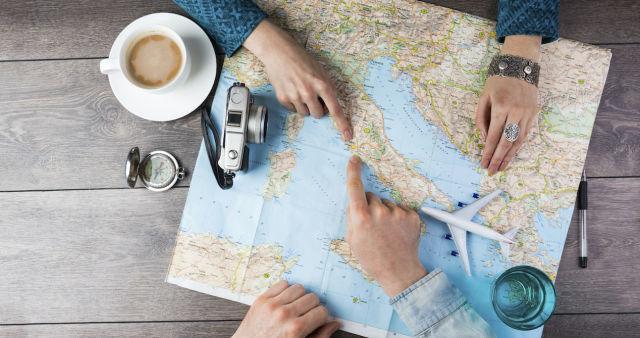 Map, travel