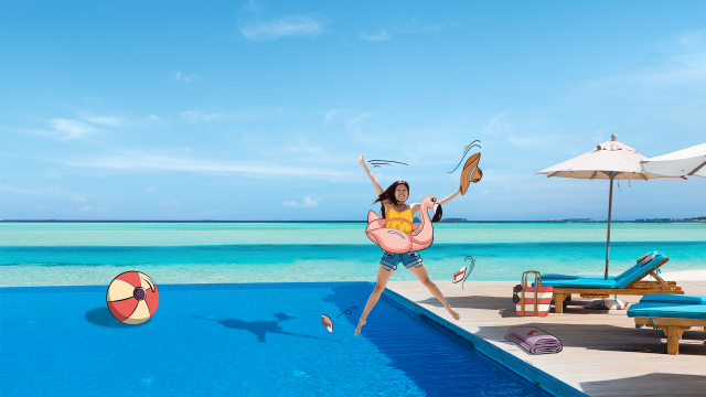 Pool, Infinity Pool, Caribbean, Maldives