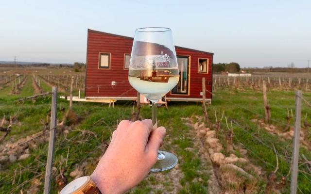 """Tiny House """"Chamade"""" au cœur des vignes, airbnb"""