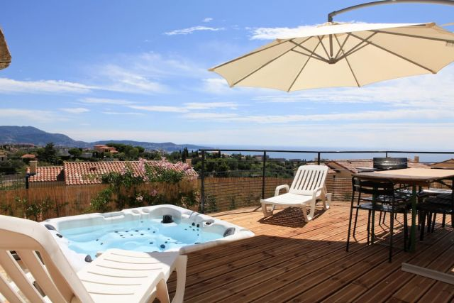 SPA - VUE MER - FABRON - idéal 8 Pers, airbnb, airbnb france